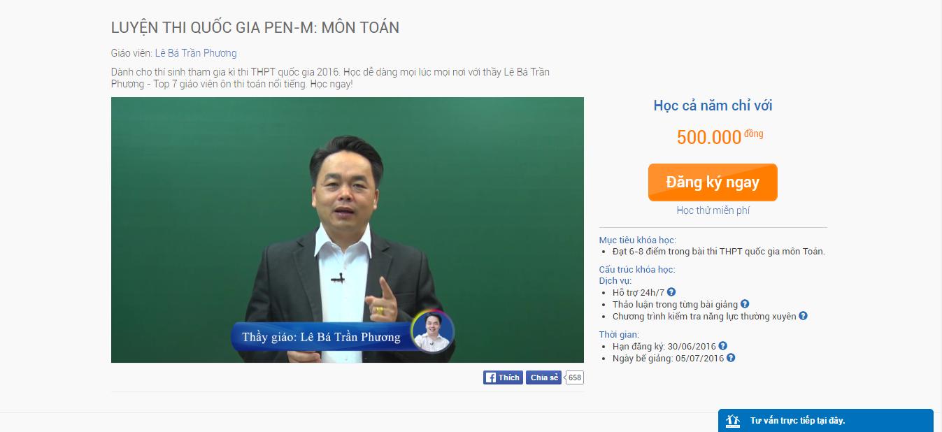 thầy PEN-M môn Toán LBTP