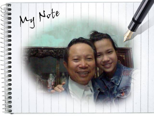 Bạn Cao Thu Hồng và bố