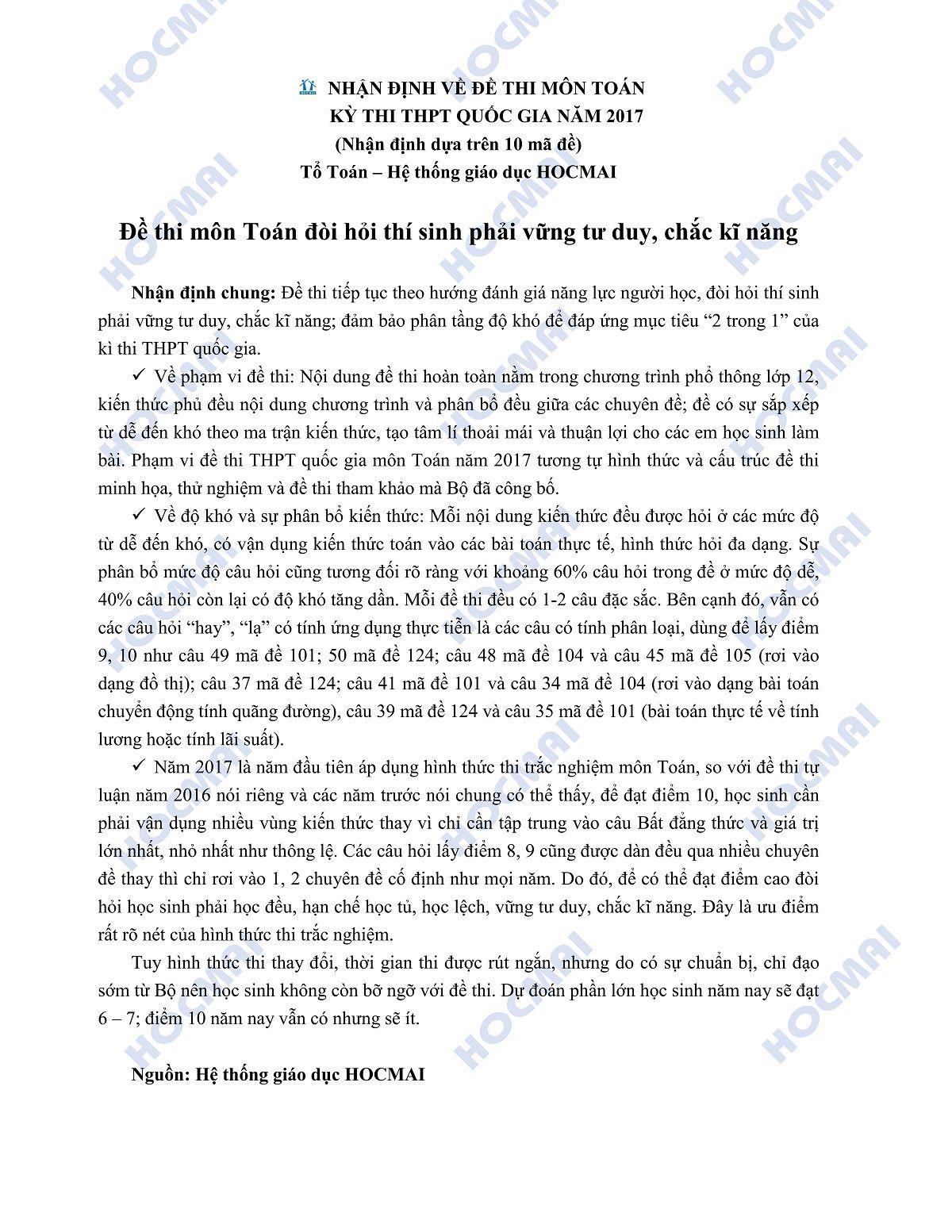 NHẬN ĐỊNH ĐỀ THI TOÁN 2017png_Page1