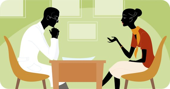 Woman Talking to Her Therapist